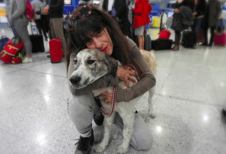 woman who rescues a lonely stray dog